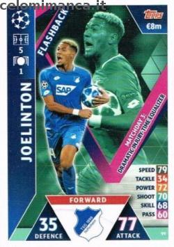 Match Attax UEFA Champions League 2018-2019 Road to Madrid 19: Card Front n. 99 Joelinton