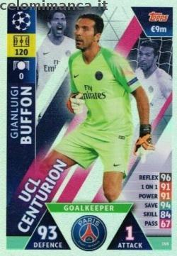 Match Attax UEFA Champions League 2018-2019 Road to Madrid 19: Card Front n. 149 Gianluigi Buffon