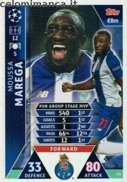 Match Attax UEFA Champions League 2018-2019 Road to Madrid 19: Card Front n. 136 Moussa Marega
