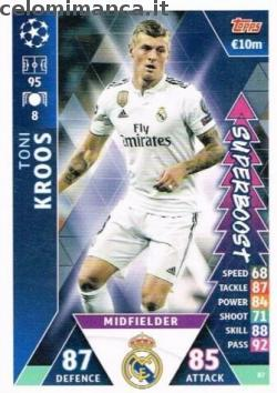 Match Attax UEFA Champions League 2018-2019 Road to Madrid 19: Card Front n. 87 Toni Kroos
