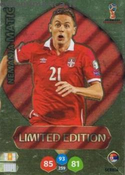 FIFA World Cup 2018 Russia Adrenalyn XL: Card Front n. LE-NM Nemanja Matić