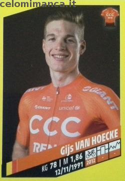 Tour de France: Card Front n. 87 Gijs Van Hoecke