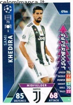 Match Attax UEFA Champions League 2018-2019 Road to Madrid 19: Card Front n. 91 Sami Khedira