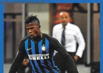Inter sticker collection 2018 - 2019: Card Front n. 161 Keita Balde
