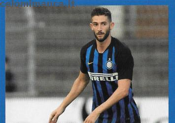 Inter sticker collection 2018 - 2019: Card Front n. 118 Roberto Gagliardini