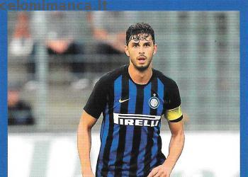 Inter sticker collection 2018 - 2019: Card Front n. 85 Andrea Ranocchia