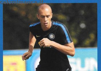 Inter sticker collection 2018 - 2019: Card Front n. 98 Joao Miranda