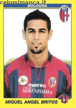 Calciatori 2009 - 2010: Card Front n. 58 Miguel Angel Britos