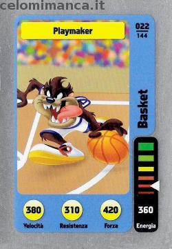 PENNY MARKET - Penny, partenza e ... sport!: Fronte Figurina n. 22 Playmaker