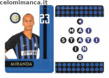 Inter sticker collection 2018 - 2019: Card Front n. INTER12 -
