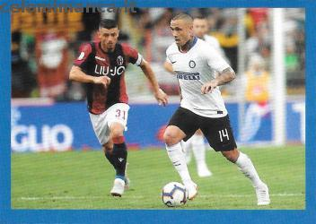 Inter sticker collection 2018 - 2019: Card Front n. 128 Radja Nainggolan