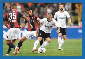 Inter sticker collection 2018 - 2019: Card Front n. 129 Radja Nainggolan