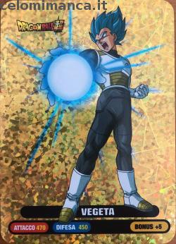DragonBall Super Lamincards ed.2018: Fronte Figurina n. 91 Vegeta