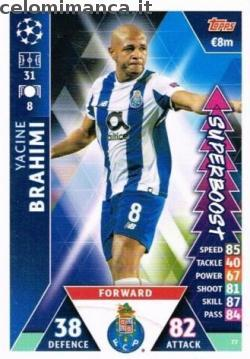 Match Attax UEFA Champions League 2018-2019 Road to Madrid 19: Card Front n. 77 Yacine Brahimi