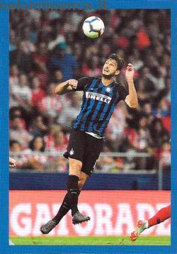 Inter sticker collection 2018 - 2019: Card Front n. 88 Andrea Ranocchia