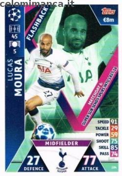 Match Attax UEFA Champions League 2018-2019 Road to Madrid 19: Card Front n. 104 Lucas Moura