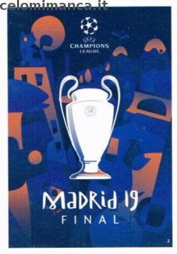 Match Attax UEFA Champions League 2018-2019 Road to Madrid 19: Card Front n. 2 Road to Madrid 19 Poster