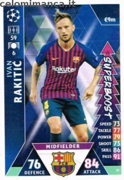 Match Attax UEFA Champions League 2018-2019 Road to Madrid 19: Card Front n. 67 Ivan Rakitić