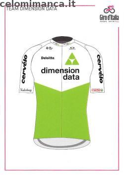 GIRO D'ITALIA 101: Fronte Figurina n. C36 Team Dimension Data