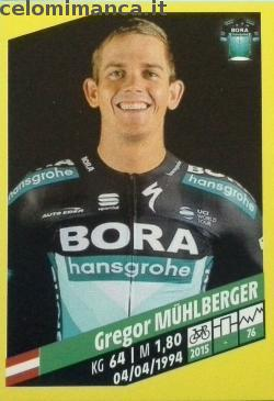 Tour de France: Card Front n. 71 Gregor Muhlberger