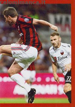 Milan Official Sticker Collection 2017/2018: Fronte Figurina n. 162 -