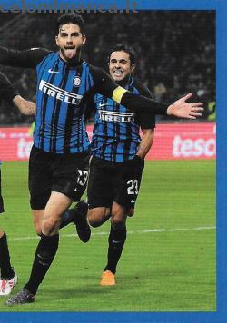 Inter sticker collection 2018 - 2019: Card Front n. 37 -