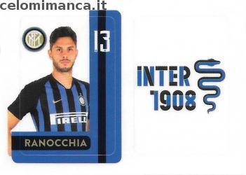 Inter sticker collection 2018 - 2019: Card Front n. INTER13 -