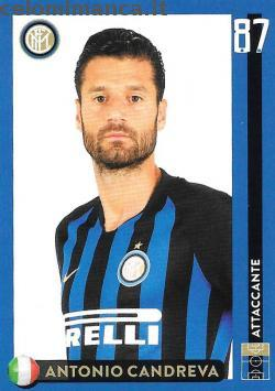 Inter sticker collection 2018 - 2019: Card Front n. 34 Antonio Candreva