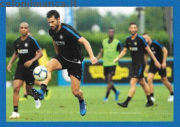 Inter sticker collection 2018 - 2019: Card Front n. 174 Antonio Candreva