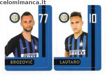 Inter sticker collection 2018 - 2019: Card Front n. INTER10 -