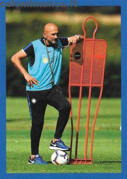 Inter sticker collection 2018 - 2019: Card Front n. 52 Luciano Spalletti