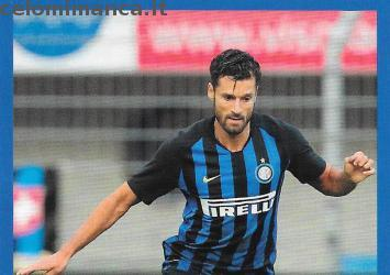 Inter sticker collection 2018 - 2019: Card Front n. 171 Antonio Candreva