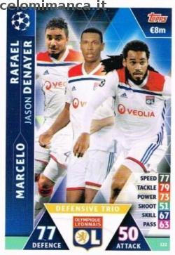 Match Attax UEFA Champions League 2018-2019 Road to Madrid 19: Card Front n. 122 Rafael / Marcelo / Jason Denayer