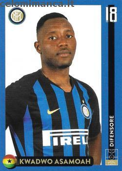 Inter sticker collection 2018 - 2019: Card Front n. 18 Kwadwo Asamoah