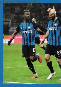Inter sticker collection 2018 - 2019: Card Front n. 36 -