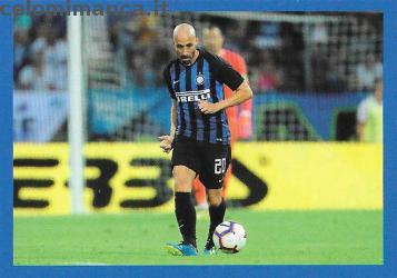 Inter sticker collection 2018 - 2019: Card Front n. 135 Borja Valero