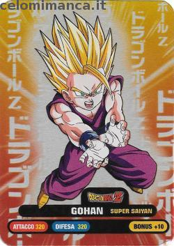 Dragonball Collection ed.2019: Fronte Figurina n. 90 Gohan Super Saiyan