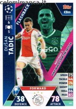 Match Attax UEFA Champions League 2018-2019 Road to Madrid 19: Card Front n. 103 Dušan Tadić