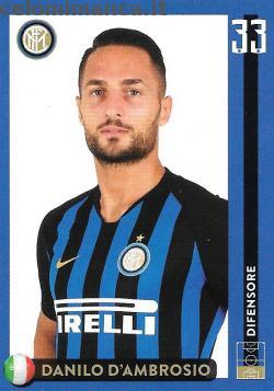 Inter sticker collection 2018 - 2019: Card Front n. 21 Danilo D'Ambrosio