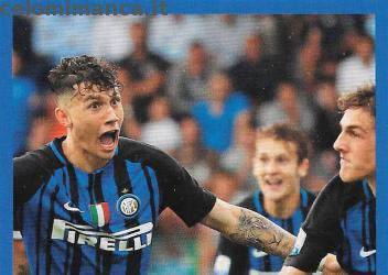 Inter sticker collection 2018 - 2019: Card Front n. 180 -